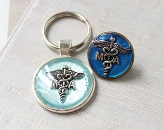 medical assistant pin, MA pinning ceremony, MA gift set, MA keychain