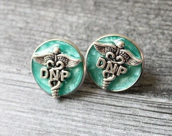 Doctor of nursing practice pin, DNP pinning ceremony, nurse graduation gift, white coat ceremony, bright green