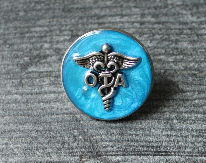 occupational therapy assistant pin, OTA pinning ceremony, white coat ceremony, occupational therapist aide, dark blue, large