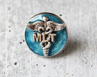 Medical Lab Technician pin, MLT pinning ceremony, white coat ceremony, blue