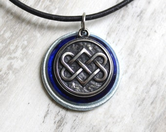Celtic knot necklace, mens jewelry