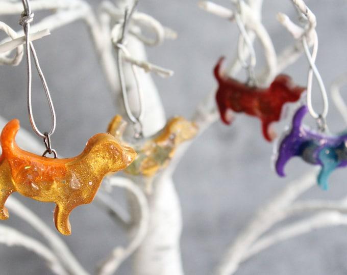 cosmic dog ornaments, set of 4, mini tree, table top tree, dog lover, dog decor