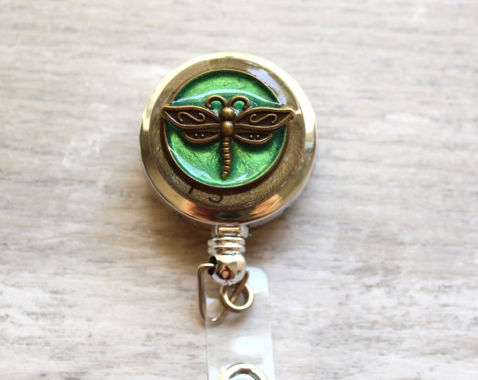 dragonfly ID badge reel