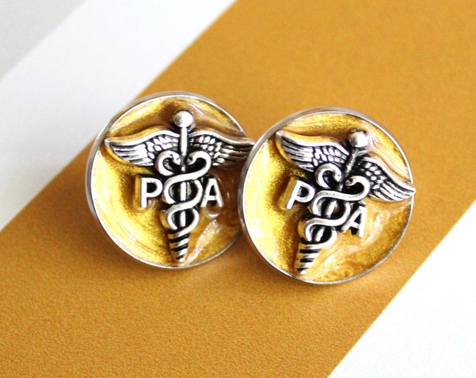 Physician assistant pin, gold, PA pinning ceremony, white coat ceremony, PA gift