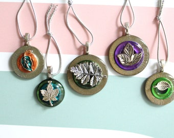 Fall tree ornaments, set of 5, miniature tree, table top tree, leaf ornaments, Halloween decoration, thanksgiving decoration