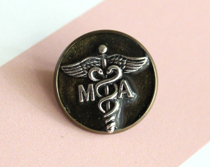 medical assistant pin, black gold, MA pinning ceremony, white coat ceremony