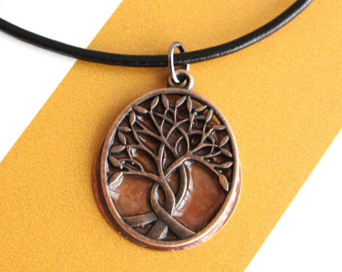 tree of life necklace, copper, Celtic necklace, mens jewelry, men's necklace, tree pendant, nature necklace, druid jewelry