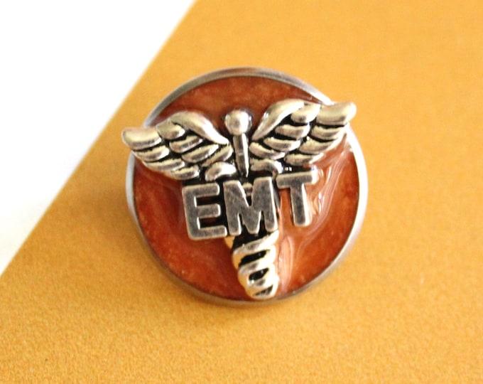 emergency medical technician pin, EMT pinning ceremony, graduation gift, orange
