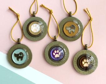 cat ornaments, set of 5, cat paw ornaments, mini tree, table top tree, cat lover, cat decor