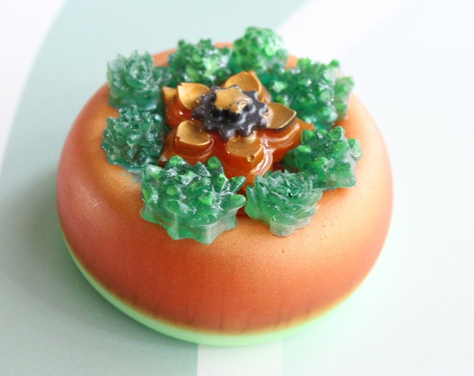 tiny succulent pot, table top decoration, micro landscape, resin ornament, resin table decor, special gift