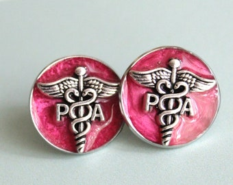 physician assistant pin, red, PA pinning ceremony, PA graduation gift, white coat ceremony