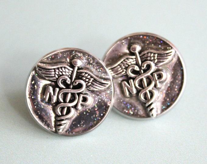 nurse practitioner pin, np pinning ceremony, nurse graduation gift, white coat ceremony, silver