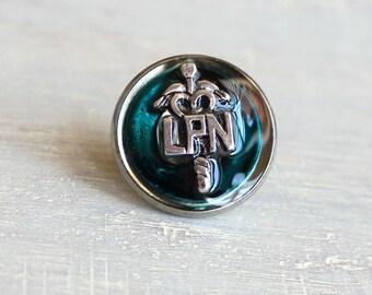 blue LPN pin, nursing pin, licensed practical nurse, graduation gift, nurse gift, nurse graduation, lpn graduation, lapel pin