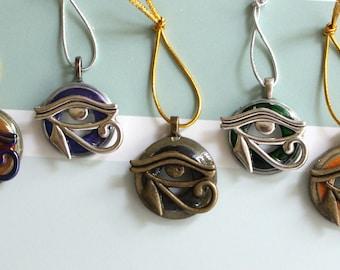 Eye of Horus ornament, set of 5, eye of Ra gift tag, miniature tree, table top tree, tree ornament
