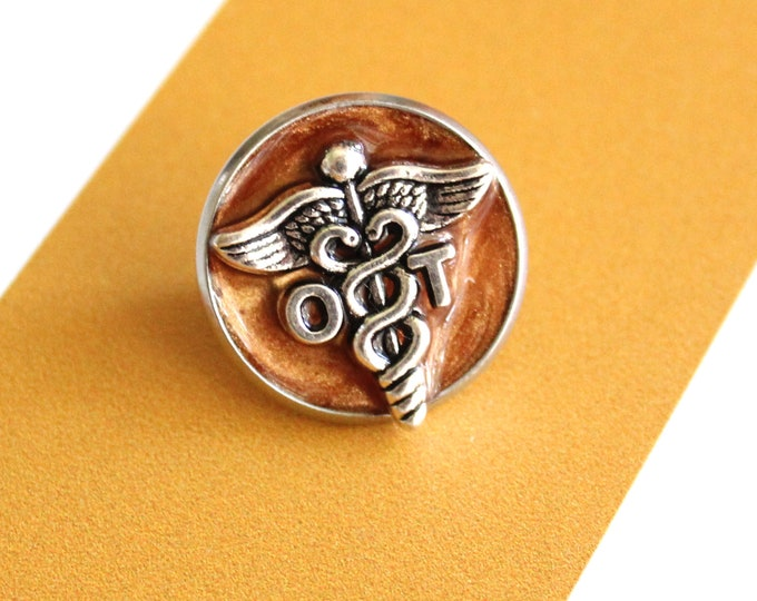 occupational therapy pin, OT pinning ceremony, white coat ceremony, occupational therapist, bronze