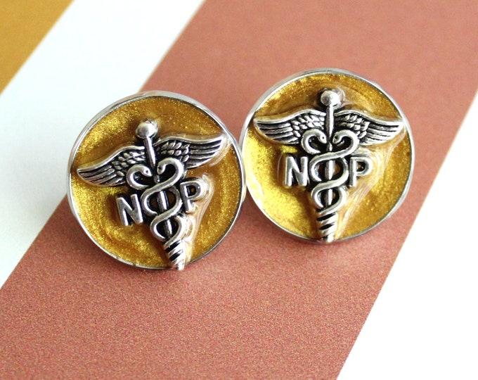 nurse practitioner pin, np pinning ceremony, nurse graduation gift, white coat ceremony, golden