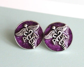 purple physician assistant pin, PA pinning ceremony, PA graduation gift, white coat ceremony