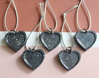 heart ornaments, set of 5, table top tree ornaments, wedding tree decorations, miniature tree, Valentine tree, wedding centerpiece