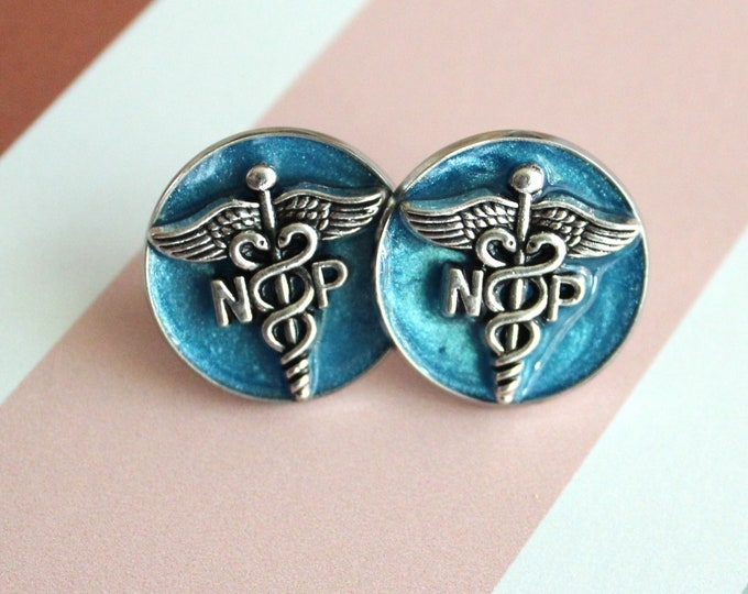 nurse practitioner pin, np pinning ceremony, nurse graduation gift, white coat ceremony, unique gift, np gift, blue