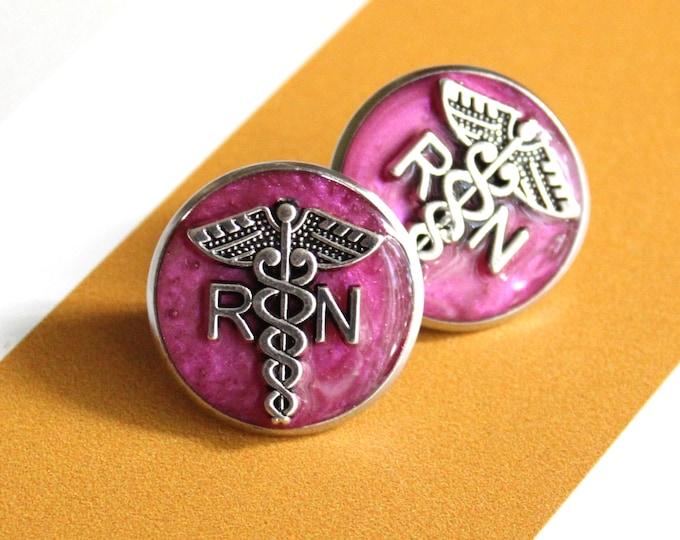 registered nurse pin, RN pinning ceremony, white coat ceremony, graduation gift, pink