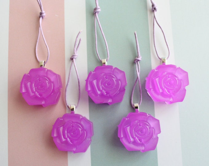 rose ornaments, set of 5, table top tree ornaments, spring tree decorations, miniature tree, flower ornaments, lilac