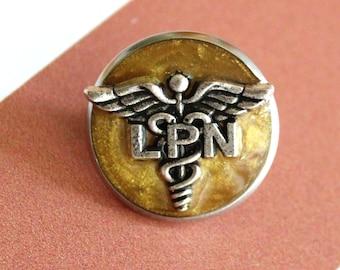 licensed practical nurse pin, LPN pinning ceremony, nurse graduation gift, white coat ceremony, golden