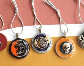 Halloween tree ornaments, set of 5, miniature tree, halloween decoration