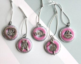 ballerina ornaments, set of 5, table top tree ornaments, miniature tree, ballet ornaments, dance ornaments