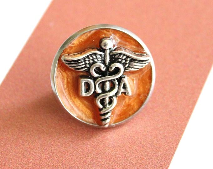 dental assistant pin, DA pinning ceremony, white coat ceremony, orange
