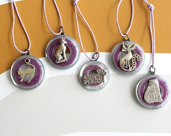 cat ornaments, set of 5, cat paw ornaments, mini tree, table top tree, cat lover, cat decor, cat person