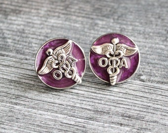 occupational therapy assistant pin, OTA pinning ceremony, white coat ceremony, occupational therapist aide, purple