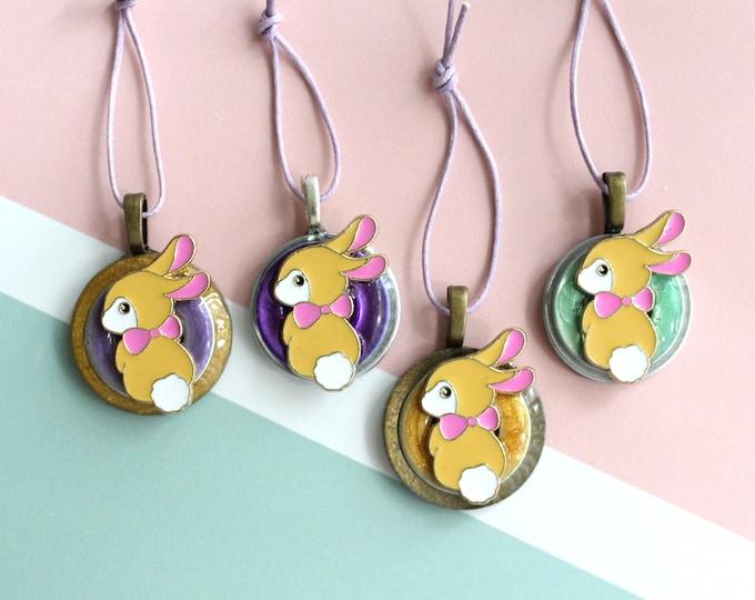 bunny rabbit ornaments, Easter tree ornaments, set of 4, table top tree, spring tree decorations, miniature tree