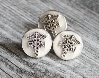 eggshell white registered nurse pin, RN pinning ceremony, nurse graduation gift, white coat ceremony, graduation gift