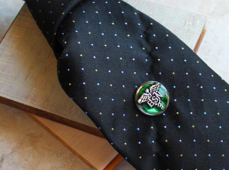 forest green Bachelor of Science nursing pin BSN pinning ceremony nurse graduation gift