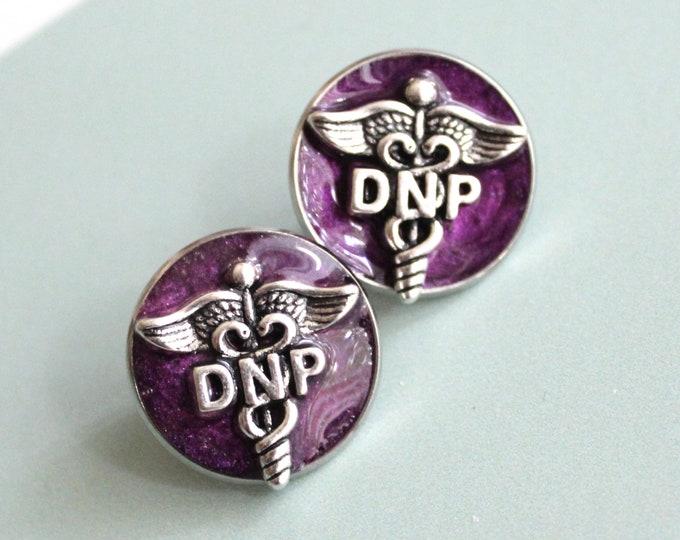 Doctor of nursing practice pin, DNP pinning ceremony, nurse graduation gift, white coat ceremony, purple