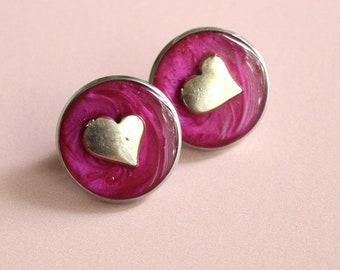 heart pin, lapel pin, tie tack, pink, romantic gift