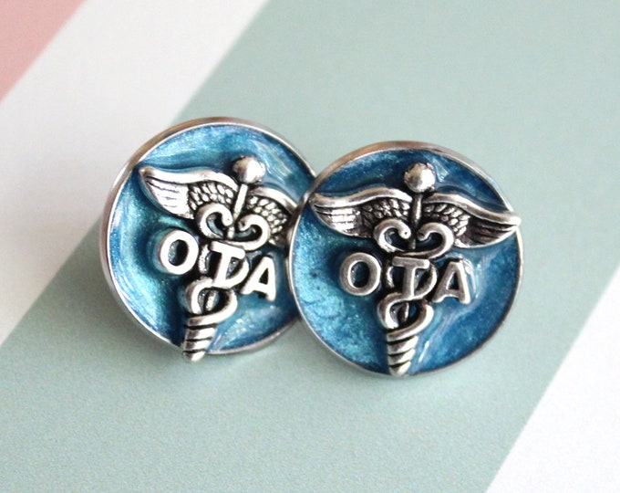 occupational therapy assistant pin, OTA pinning ceremony, white coat ceremony, occupational therapist aide, blue