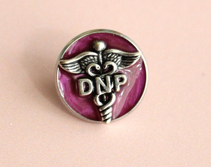 Doctor of nursing practice pin, DNP pinning ceremony, nurse graduation gift, white coat ceremony, pink