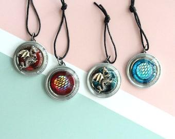 dragon ornaments, set of 4, table top tree ornaments, miniature tree, fantasy ornaments, dragon scale