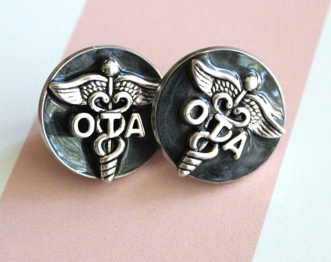 occupational therapy assistant pin, OTA pinning ceremony, white coat ceremony, occupational therapist aide, black