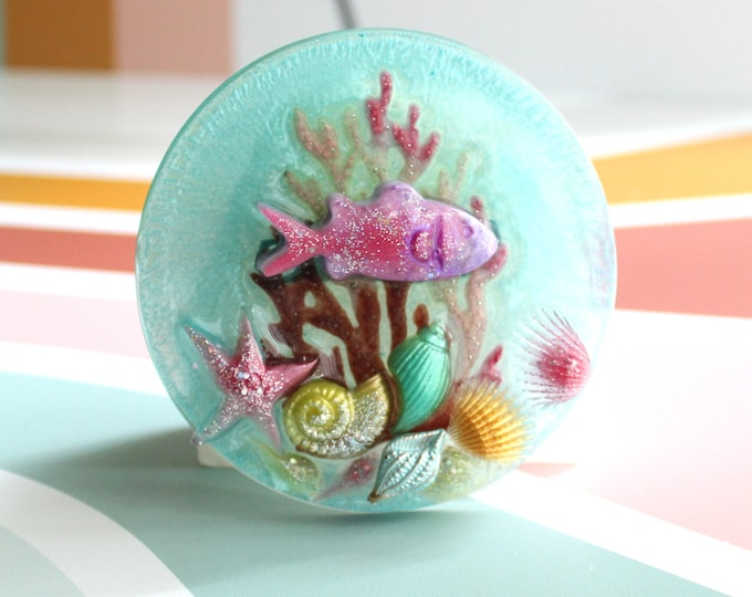 under the sea wall hanging, housewarming gift, unique gift, sea life diorama, wall art