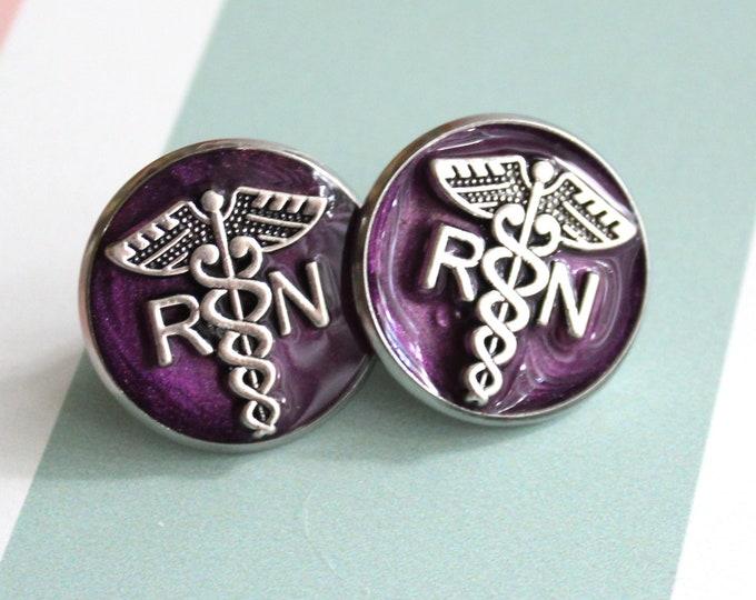 registered nurse pin, RN pinning ceremony, white coat ceremony, graduation gift, purple