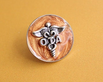 occupational therapy assistant pin, OTA pinning ceremony, white coat ceremony, occupational therapist aide, bronze, large