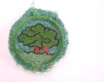Vintage Girl Scout Tree Badge 1948-1955
