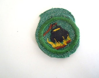 Vintage Girl Scout Outdoor Cook Badge