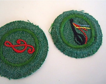 Girl Scout Badge Music Minstrel Scout Memorabilia