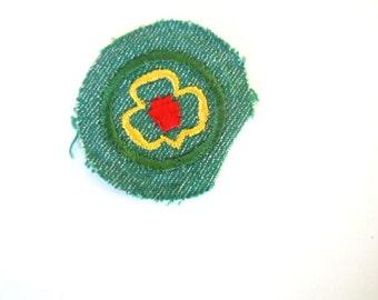 Vintage Girl Scout My Troop Badge