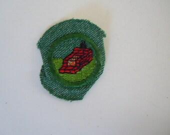 Vintage Girl Scout Backyard Camper Badge
