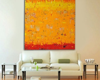 """no20 Huge Painting - Original Large Abstract Modern Art Oil Painting - Michel Campeau - MADE-TO-ORDER - 48''x60"""""""