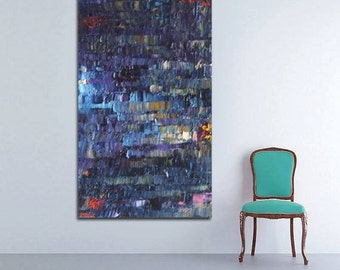 """no15 Huge Painting - Original Large Abstract Modern Art Oil Painting 36''x72"""" - Michel Campeau - MADE-TO-ORDER"""